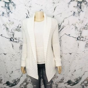💜3/$25💜 Bluenotes Knit Open Cardigan White